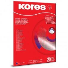 Бумага копировальная синяя Kores 1200 (А4, 20 листов)