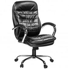 Кресло для руководителя Easy Chair 515 RT черное (рециклированная кожа/металл)