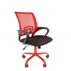 Кресло офисное Chairman 696 Cmet черное/красное (ткань/сетка/металл)