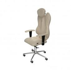 Кресло для руководителя Kulik-system GRANDE 0401 бежевое (искусственная кожа/металл)