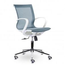 Кресло для руководителя Йота М-805 голубое (сетка/хромированный металл)