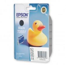 Картридж струйный Epson T0551 C13T05514010 черный оригинальный