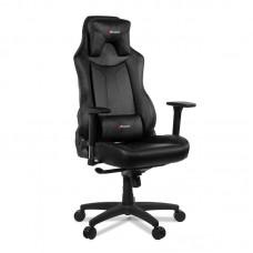 Кресло игровое Arozzi Vernazza черное (экокожа/пластик)