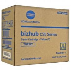 Картридж лазерный Konica Minolta TNP-22Y A0X5252 желтый оригинальный