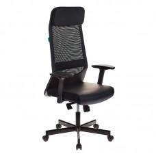 Кресло для руководителя Бюрократ T-995 черное (искусственная кожа/сетка/металл)