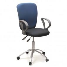 Кресло офисное Chairman 9801 синее/серое (ткань/пластик/металл)