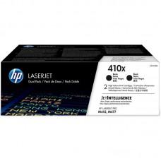 Картридж лазерный HP 410X CF410XD черный оригинальный повышенной емкости (двойная упаковка)