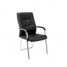 Конференц-кресло Easy Chair 807 VPU черное (искусственная кожа/металл хромированный, 4 штуки в упаковке)