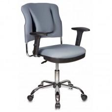 Кресло для руководителя Бюрократ СН-323ASXN/G серое (ткань/металл)