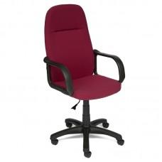 Кресло для руководителя Leader бордовая (ткань/пластик)