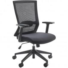 Кресло для руководителя Iron CIR69SW черное (пластик/сетка/ткань)