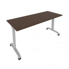 Стол складной мобильный (венге, 1600x650x757)