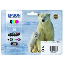 Картридж струйный Epson C13T26164010 CMYK для XP600/700/800 (4шт/уп)