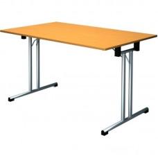 Стол складной FT120 (прямоугольный, каркас серебр.металлик, столешница ЛДСП вишня)
