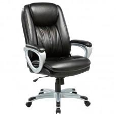 Кресло для руководителя Easy Chair 583 TR черное/серое (рециклированная кожа/пластик)