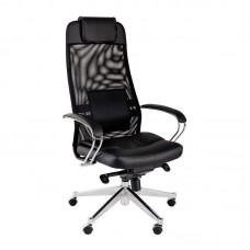Кресло для руководителя AV 169 черное (искусственная кожа/сетка/металл)