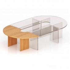 Угловая секция стола для заседаний Эталон (бук, 2000х1000х768 мм)