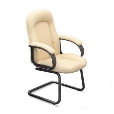 Конференц-кресло CH 400 бежевое (экокожа/пластик/металл черный)