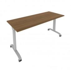 Стол складной мобильный (орех, 1600x650x757)