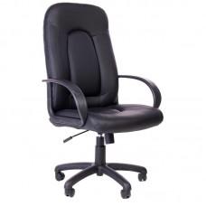 Кресло для руководителя 670 TС черное (экокожа/пластик)
