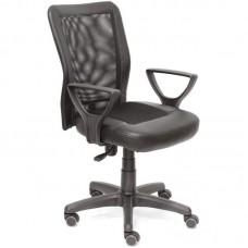 Кресло офисное CH 320 черное (искусственная кожа/сетка/пластик)