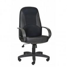 Кресло для руководителя 674 TPU черное (ткань/экокожа/пластик)