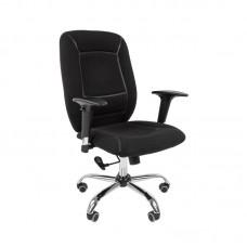 Кресло офисное Chairman 888 черное (ткань/пластик)