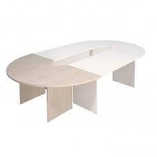 Секция стола для переговоров Эталон угловая (дуб молочный, 2000x1000x768 мм)