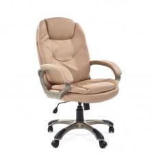 Кресло для руководителя Chairman 668 бежевое (экокожа/пластик)