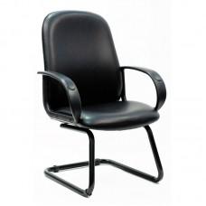 Конференц-кресло Chairman 279 на полозьях черное (искусственная кожа/пластик/металл)