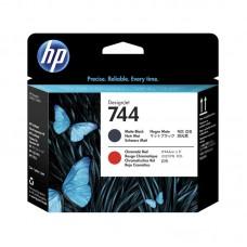 Головка печатающая HP 744 F9J88A матовая черная и хромированая красная оригинальная