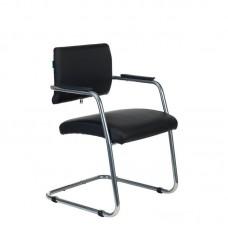 Конференц-кресло Бюрократ CH-271N-V/SL черное (искусственная кожа/металл)