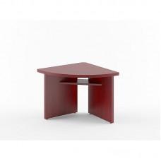 Стол для заседаний Born угловой элемент левый (бургунди, 840х840х750 мм)