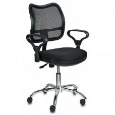 Кресло Бюрократ CH-799SL/TW-11 черный крестовина хром (ткань/сетка/металл/пластик)