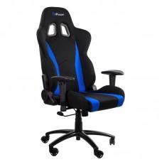 Кресло игровое Arozzi Inizio Fabric черное/синее (ткань/пластик)
