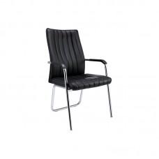 Конференц-кресло Easy Chair 811 VPU черное (искусственная кожа/металл хромированный)