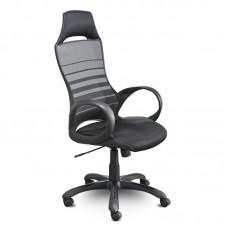 Кресло для руководителя Тесла М-709 черное (ткань/сетка/пластик/искусственная кожа)
