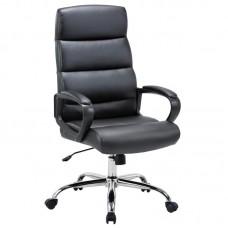 Кресло для руководителя Easy Chair 679 TR черное (рециклированная кожа/хромированный металл)