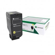Картридж лазерный Lexmark 84C5HY0 желтый оригинальный повышенной емкости
