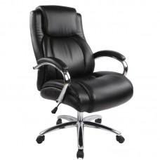 Кресло для руководителя Easy Chair 585 TR черное (рециклированная кожа/хромированный металл)