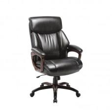 Кресло для руководителя Easy Chair 638 TR черное/орех (рециклированная кожа/пластик)