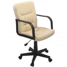 Кресло для руководителя Чери бежевое (искусственная кожа/пластик)