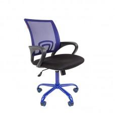 Кресло офисное Chairman 696 CMet черное/синее (ткань/сетка/металл)