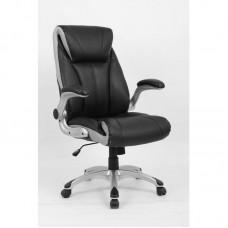 Кресло для руководителя Easy Chair 652 TPU черное/серебристое (искусственная кожа/пластик)