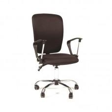 Кресло офисное Chairman 9801 черное (ткань/пластик/хром)