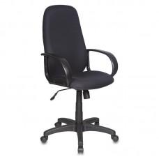 Кресло для руководителя Бюрократ CH-808 черное (ткань/пластик)