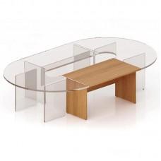 Секция прямая для стола заседаний Эталон (орех, 1400х800х768 мм)