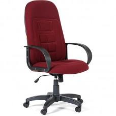 Кресло для руководителя Chairman 727 бордовое (ткань/пластик)