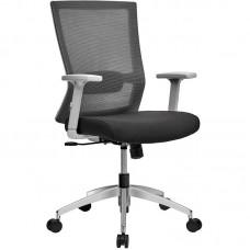 Кресло для руководителя Iron CIR60SW черное/серое (металл/ткань/сетка)
