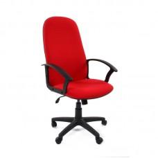 Кресло для руководителя Chairman 289 красное (ткань/пластик)